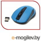Defender Wireless Optical Mouse MM-605 Blue (RTL) USB 3btn+Roll <52606>