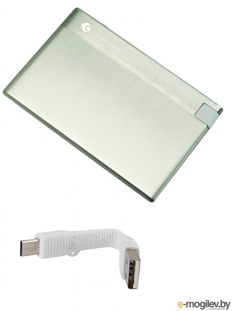 CasePower A29 Credit Card Power Booster 800 mAh Silver CASE-329-SILVER