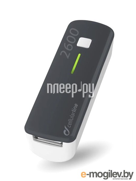 Cellular Line 2600 mAh Black POCKETCHG2600K