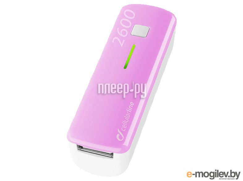 Cellular Line 2600 mAh Pink POCKETCHG2600P