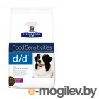 Hills Prescription Diet Canine D/D Allergy  Skin Care Утка/Рис 2kg для собак 9117