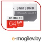 Samsung EVO Plus v2 MicroSDXC 64GB UHS-I U3 + SD Adapter (R100/W60Mb/s) (MB-MC64GA/RU)
