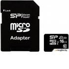 Карты памяти. 16 Gb Silicon Power MicroSDHC (SP016GBSTHBU1V10-SP) Elite UHS-1, Class 10, Retail