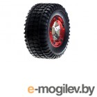 Traxxas Tires/Wheels Assembled/Glued 12-Spoke Red (2).