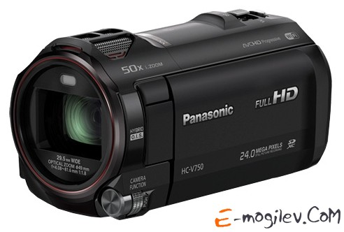 Panasonic HC-V750 black 1CMOS 20x IS opt 3 1080p SDHC Flash Flash