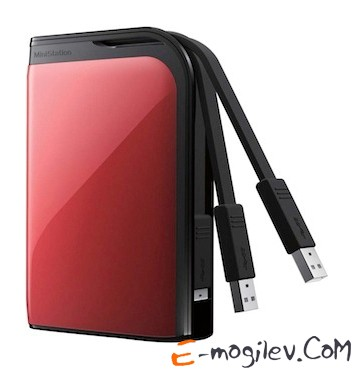 Buffalo USB 3.0 500Gb HD-PZ500U3R-EU MiniStation Extreme 2.5 red