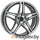 Borbet 8.0X17 5/115 ET38 D70.27 CC black polished matt (с крепежом) литой